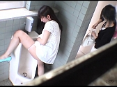 Bad Hotties Are Pissing In Men's Room - Scene 1