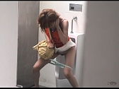 Bad Hotties Are Pissing In Men's Room - Scene 3