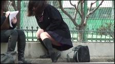 Awesome Asian Honies Leaking In Public - Scene 4