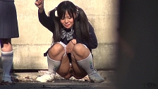 Urination Of Co-Eds In Tokyo - Scene 1