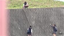Kinky Co-Eds Peeing In Public - Scene 4