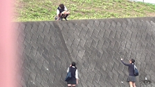 Kinky Co-Eds Peeing In Public - Scene 4