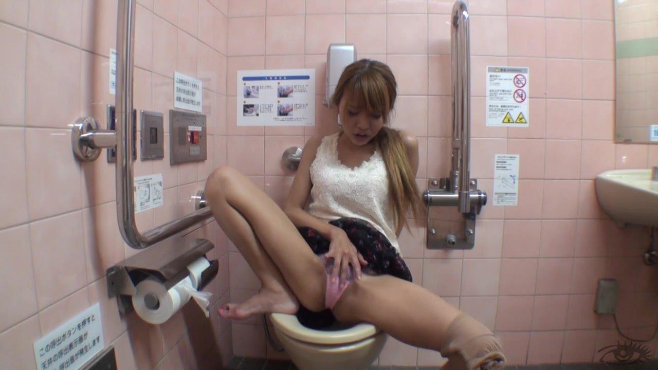 Restroom Jill Off - Scene 3