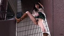 Sexy Asian Chicks Are Pissing In Public Place - Scene 4