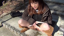 Sexy Asian Chicks Are Pissing In Public Place - Scene 5