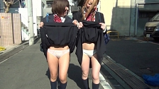 Smashing Asian Chicks Flashing Their Panties In Public - Scene 11