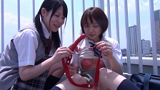 Lesbians Poke Each Other For Fun - Scene 1