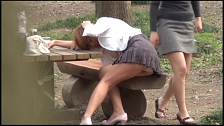 Asian Chicks Peeing In The Park - Scene 4