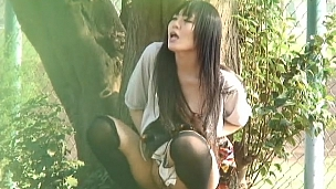 Horny Asian Bitches Showing Off In Public - Scene 1