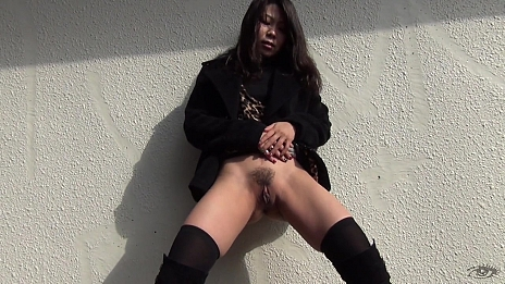 Sexy Asian Chicks Are Pissing In Public Place - Scene 6